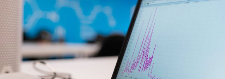 computer screen displaying marketing analytics