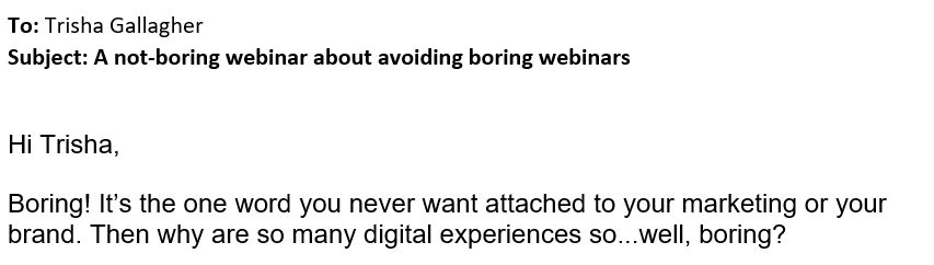a not-boring webinar about avoiding boring webinars
