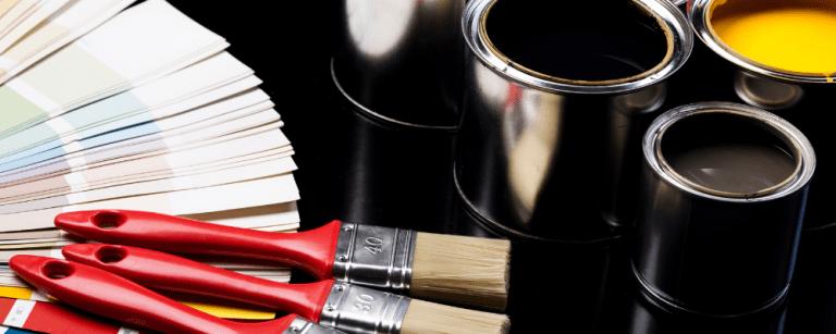 paint samples representing branding elements