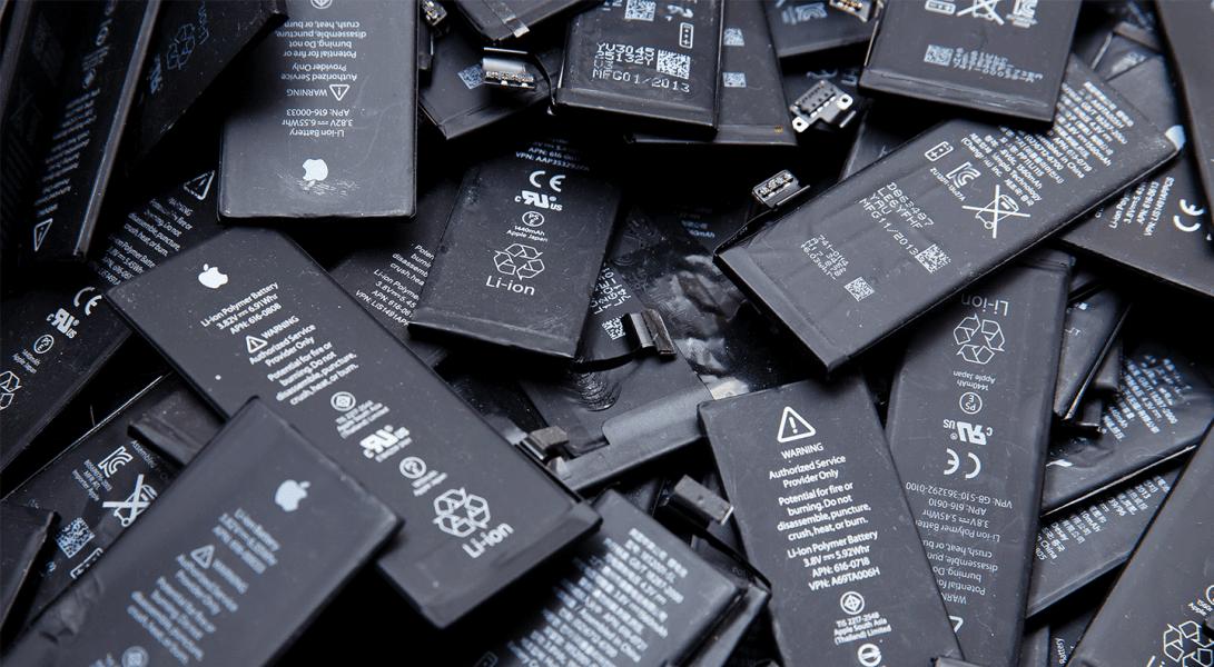 batterie al litio da riciclare