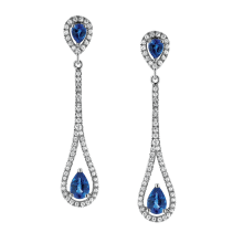 White Gold Earrings with Ceylon Blue Sapphires
