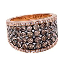 Chocolate diamonds pave ring