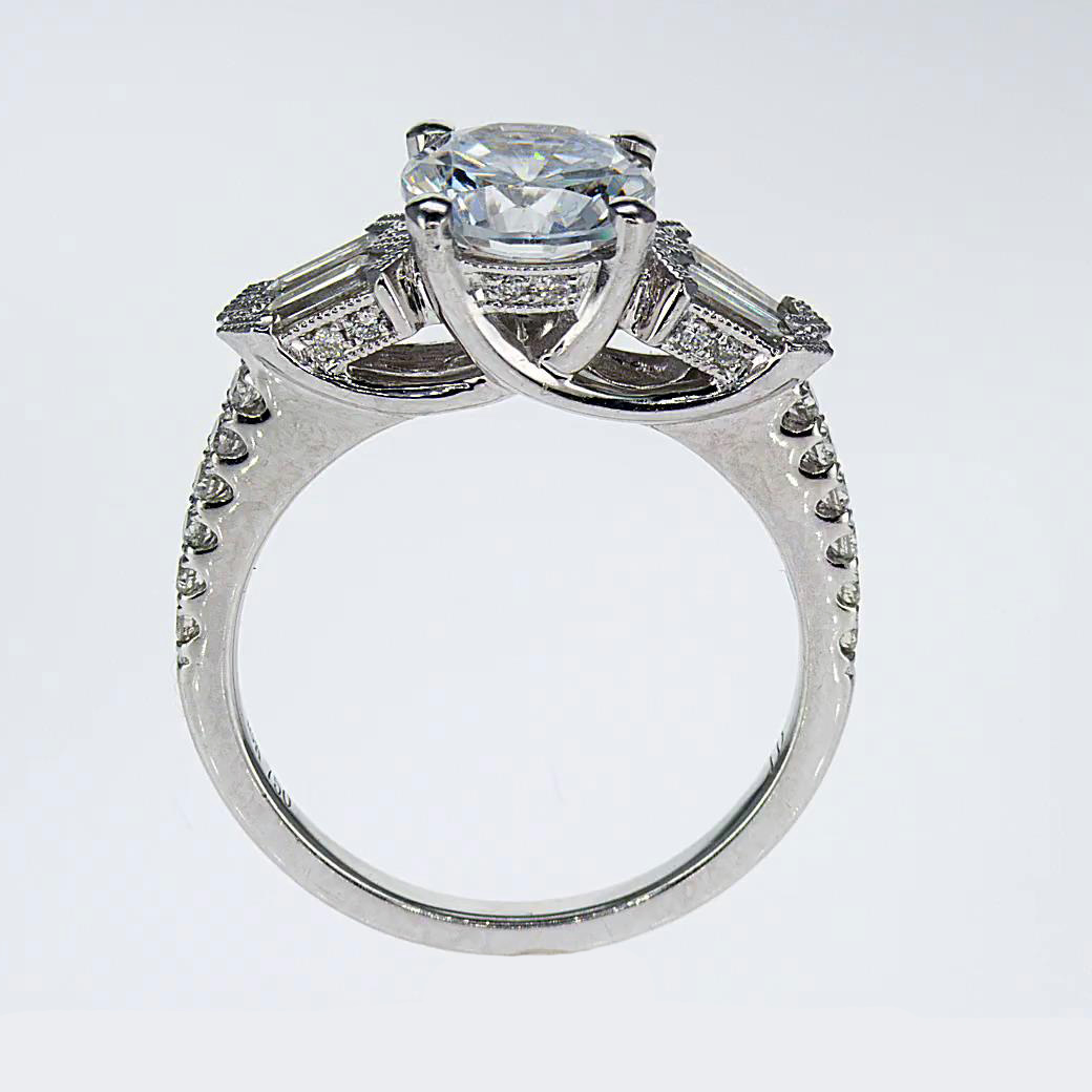 engagement product on side stone setting shoulder ring rings diamond accented prong set
