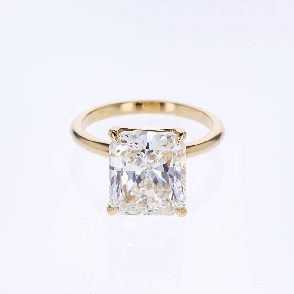 product setting engagement white certified gold rings diamond gia radiant cut ring