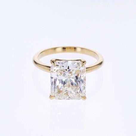 5 carat radiant cut diamond solitaire engagement ring