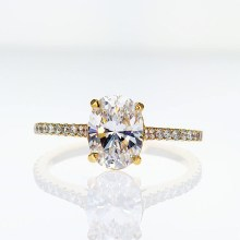 Rose Gold Accented Diamond Engagement Ring