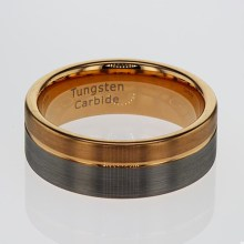 Silver and Gold Plated Tungsten Ring