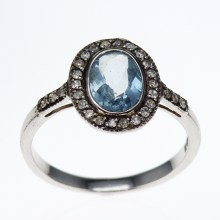 Gemstone Vermeil Engagement Ring, Vintage inspired