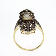 Vermeil Vintage Inspired Ring with Genuine Gemstones