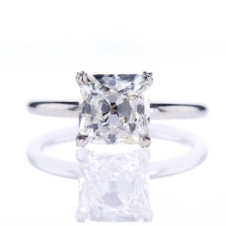 Vintage Asscher Cut Diamond Solitaire