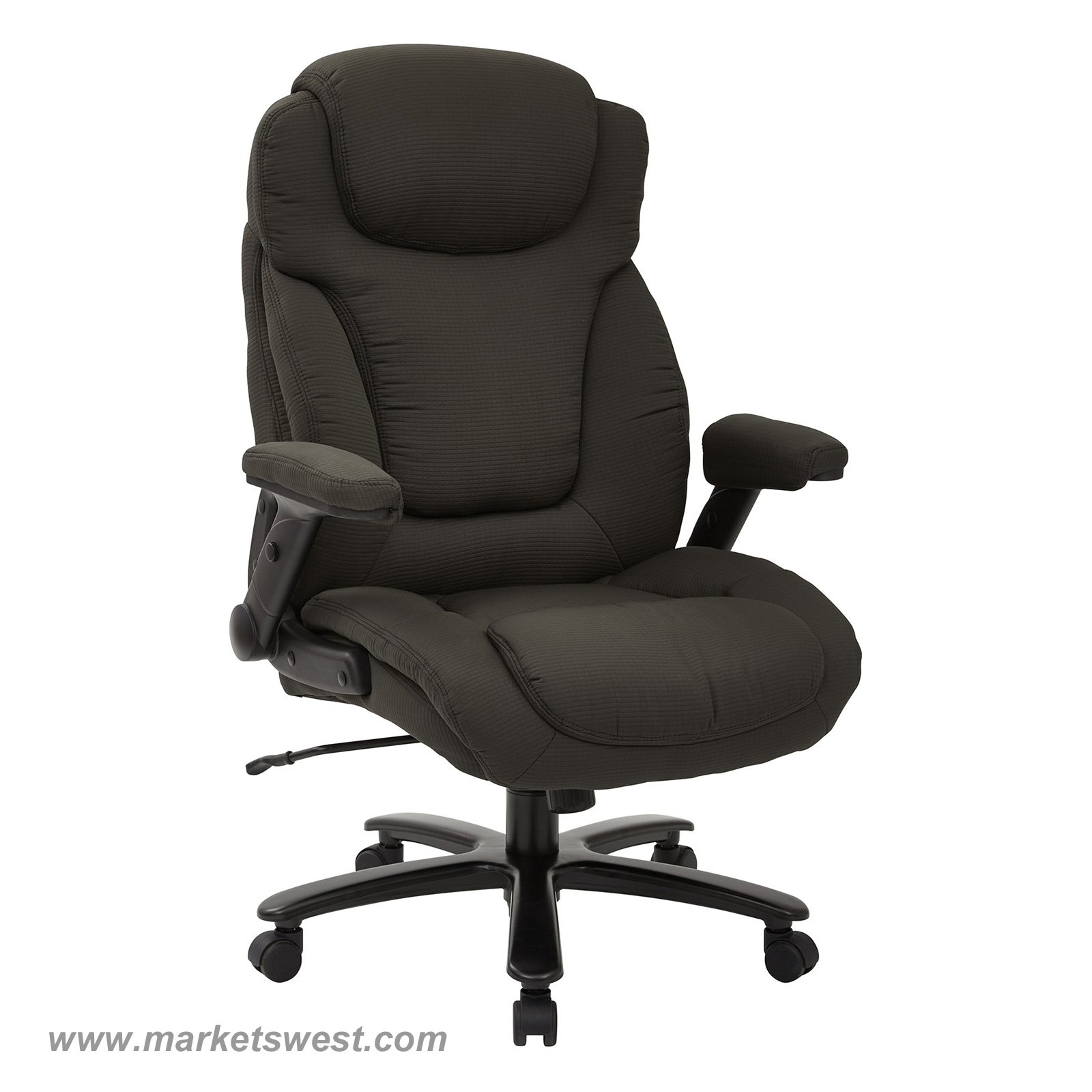Executive Chairs Big And Tall High Back Charcoal Fabric Executive Chair With