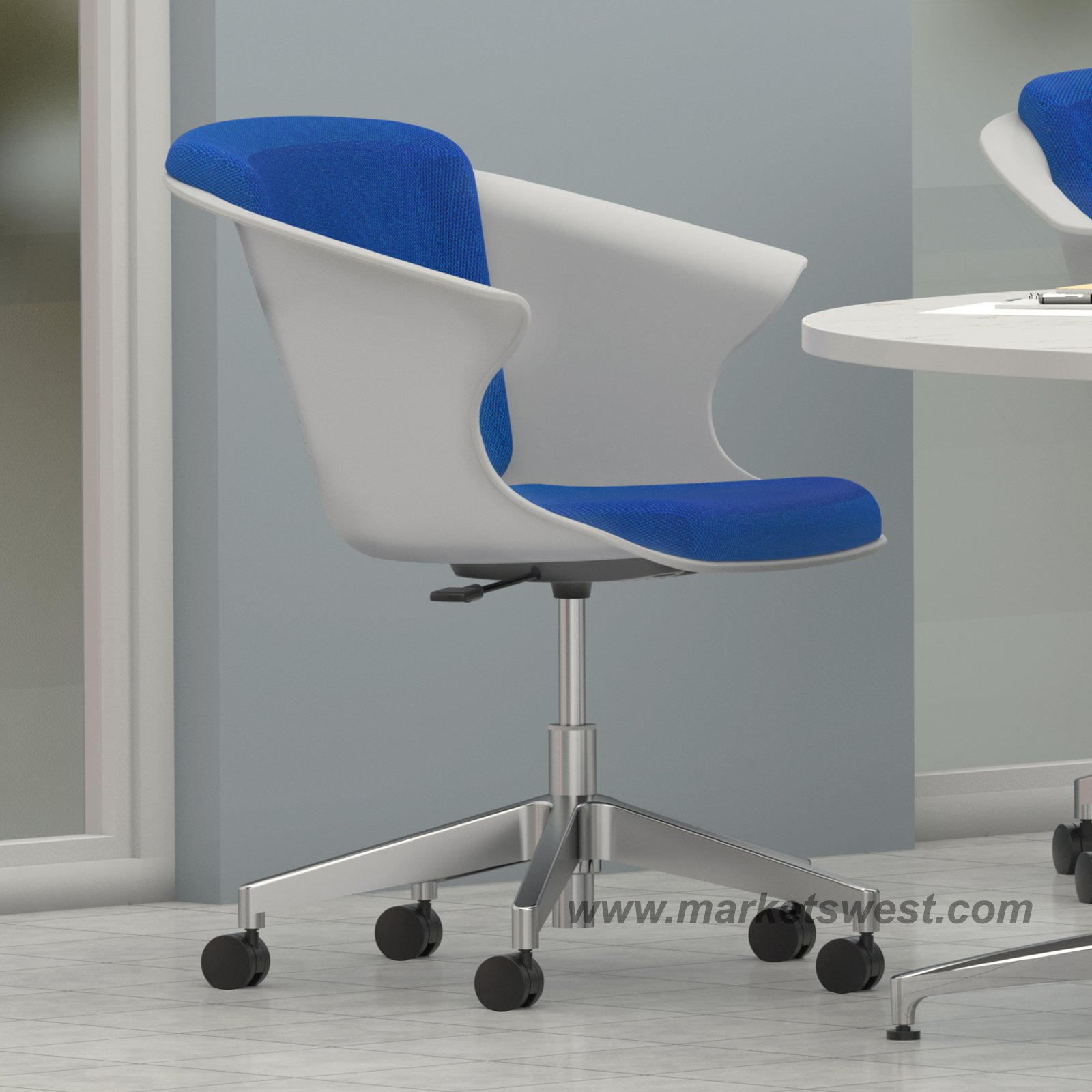 Height Adjustable Chair Cosy Social Chair With 5 Star Height Adjustable Base