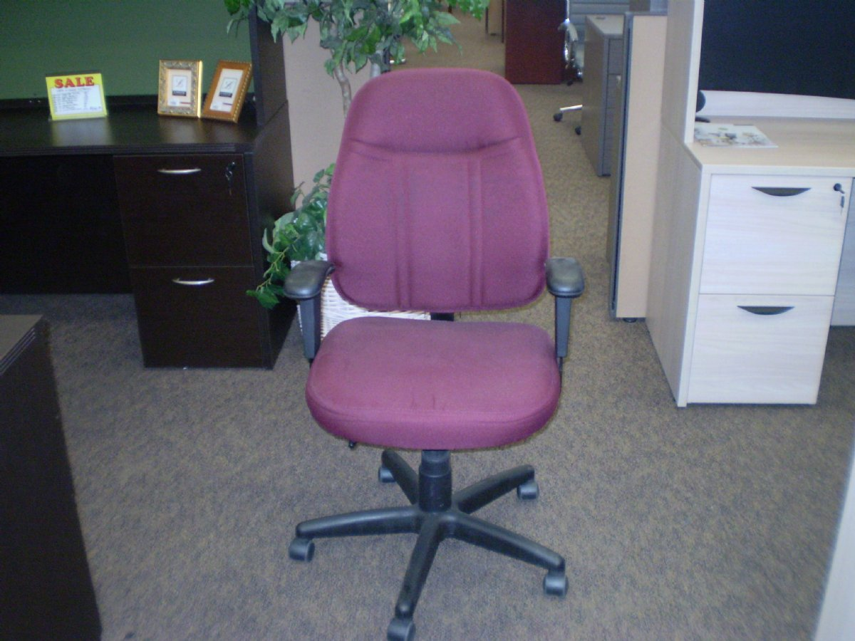 Staples Task Chair Staples Maroon And Black Task Chair Used