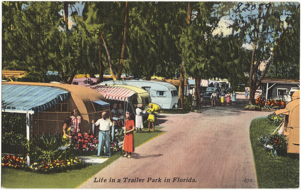 """Life in a Trailer Park in Florida"" (Boston Public Library/Flickr)"