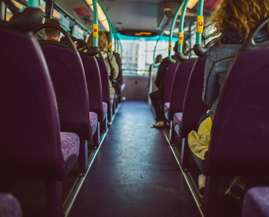 People sitting on a bus