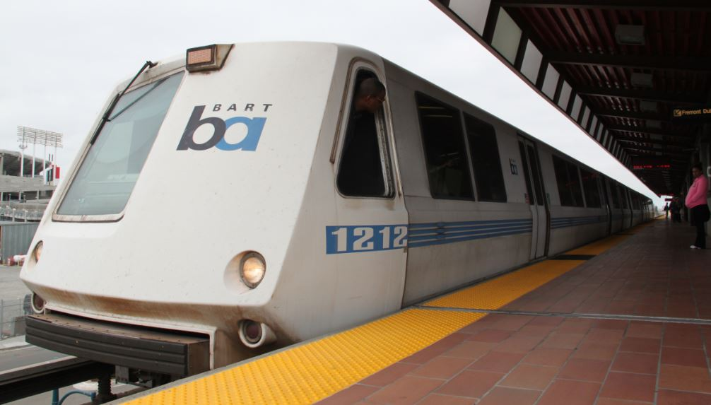 BART train at the platform