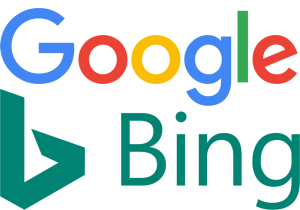 Google and Bing logo for search console story