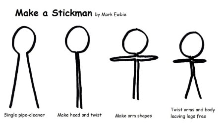 How to Make a Pipe-Cleaner Stick Figure