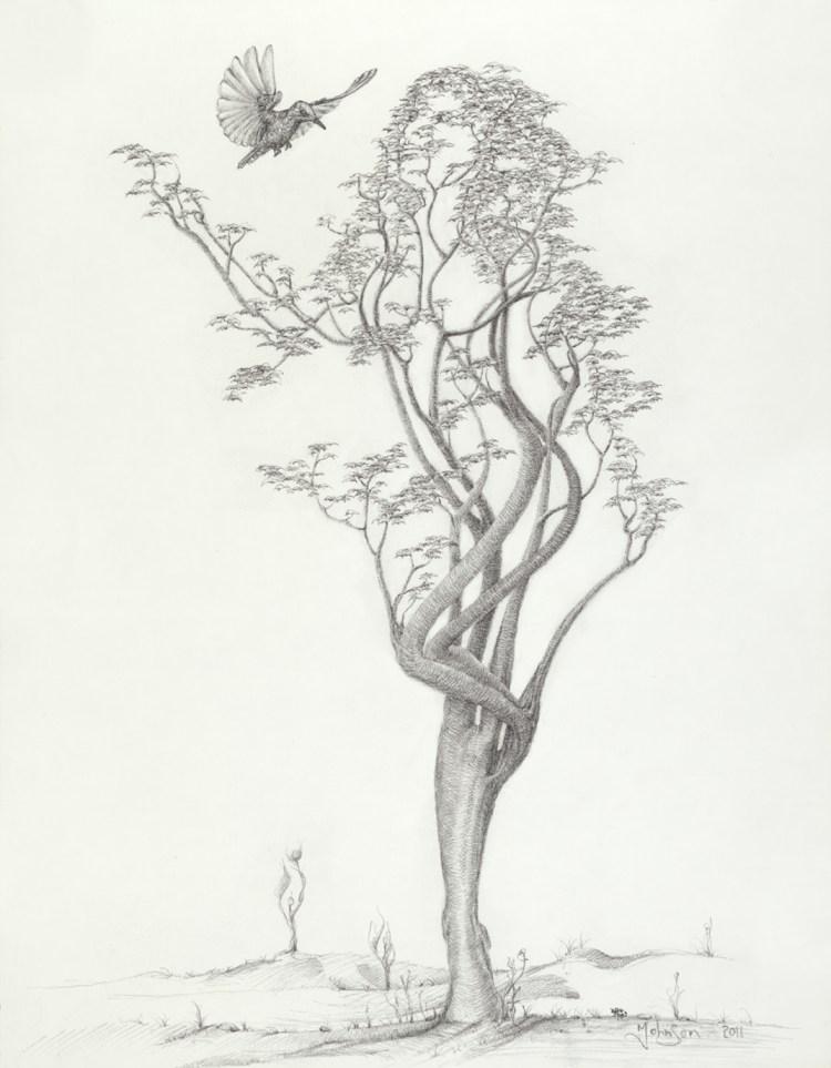 Mark Johnson_Tree Dancer in Flight 14x18