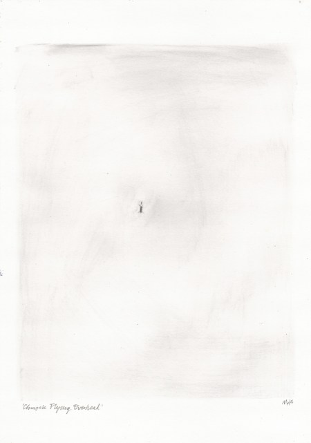 Chinook Flying Overhead drawing