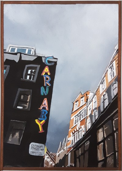 Grey Clouds, Sunshine, Carnaby painting