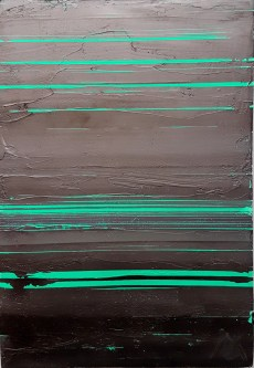 abstract art Green and Black 15082018 Mark Gisbourne artist