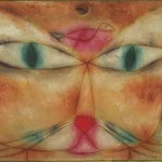 Cat and bird, by Paul Klee