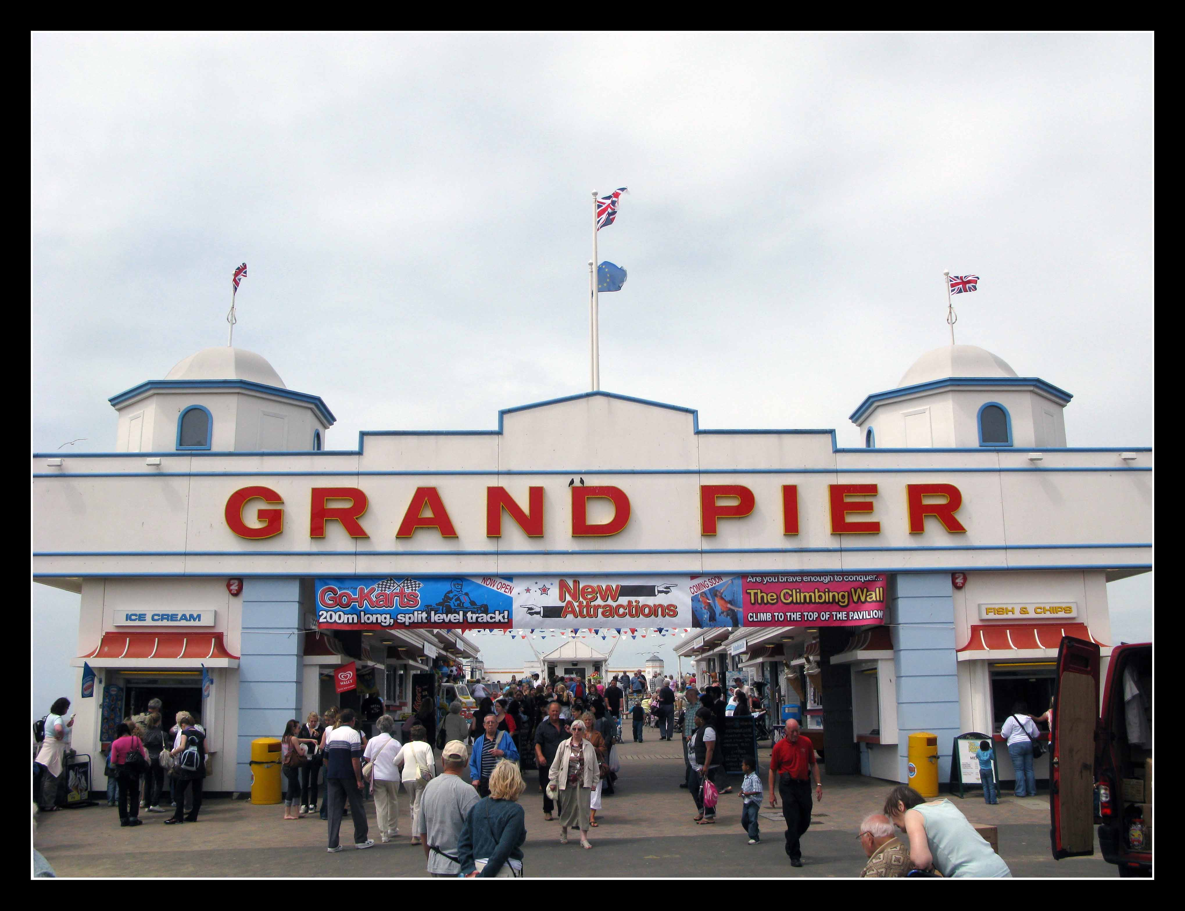 Poor old Weston Super Mare.  You won't be re-enacting this scene for a while.