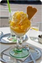Dessert: Ananasbecher