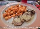 Kalbfleisch mit Senfsauce und Kartoffeln