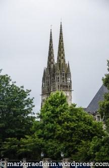 Blick auf die Cathédrale Saint Corentin