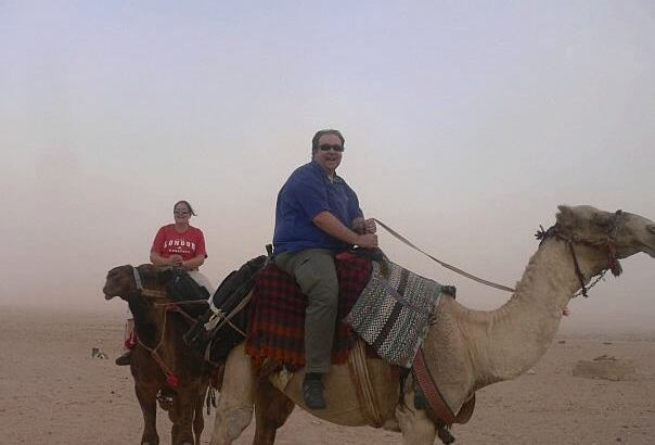 On a camel in Syria