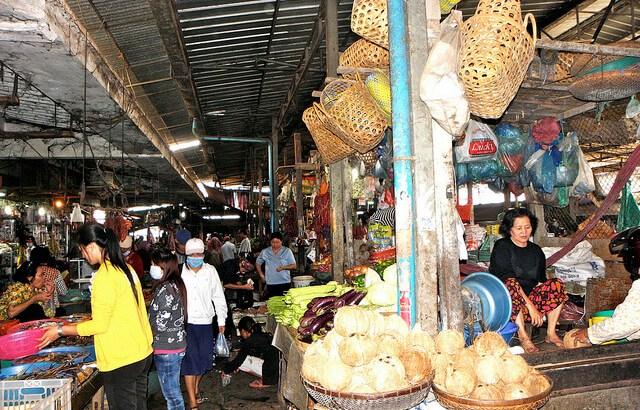 A market in Cambodia