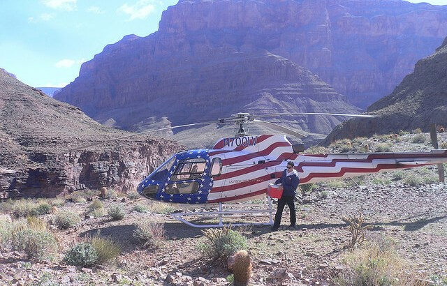 Our helicopter in the Grand Canyon