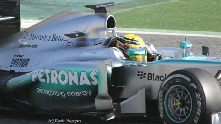 Lewis Hamilton in Winter Testing 2013