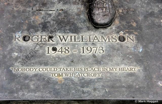 The Roger Williamson memorial at Donington Park