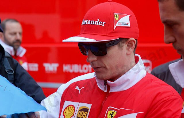 Kimi Raikkonen at 2014 Winter Testing in Jerez