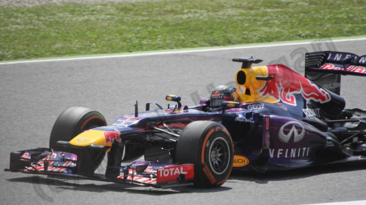 Sebastian Vettel in Free Practice at the 2013 Spanish GP
