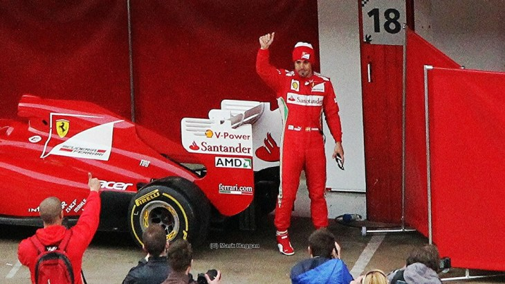 Fernando Alonso at Winter Testing 2012