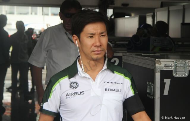 Kamui Kobayashi at the German Grand Prix 2014