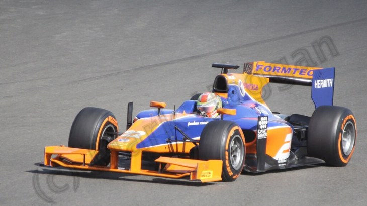 The second GP2 race at the 2013 British Grand Prix
