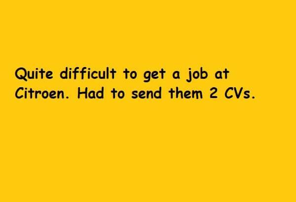 Send 2CVs