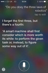 Siri and The Three Laws of Robotics