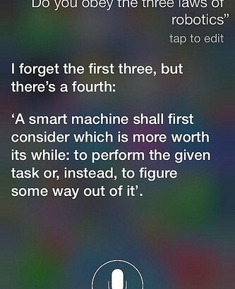 Siri and The Three Laws of Robotics