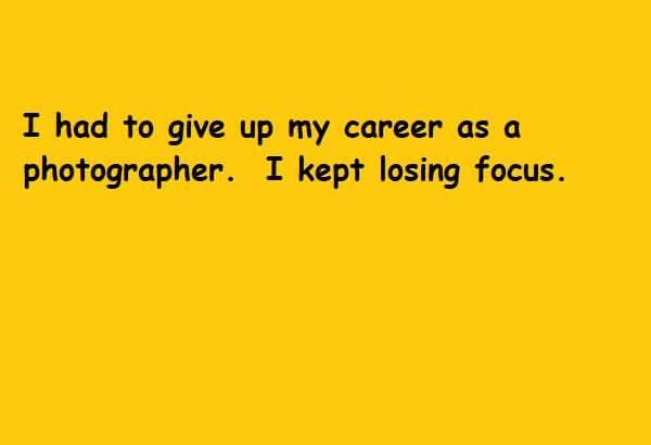 losing focus