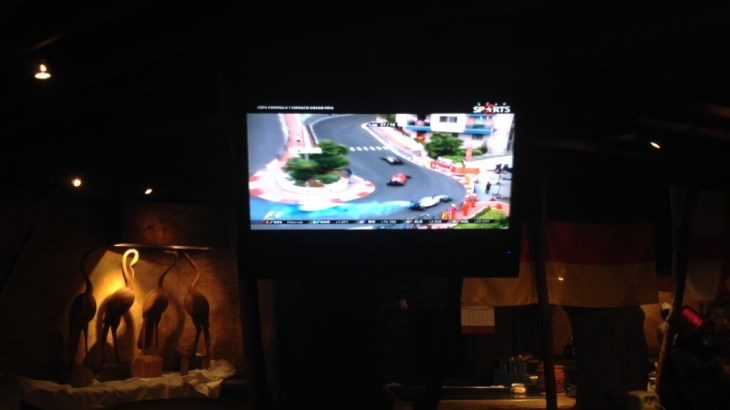 Watching the Monaco Grand Prix in Macau