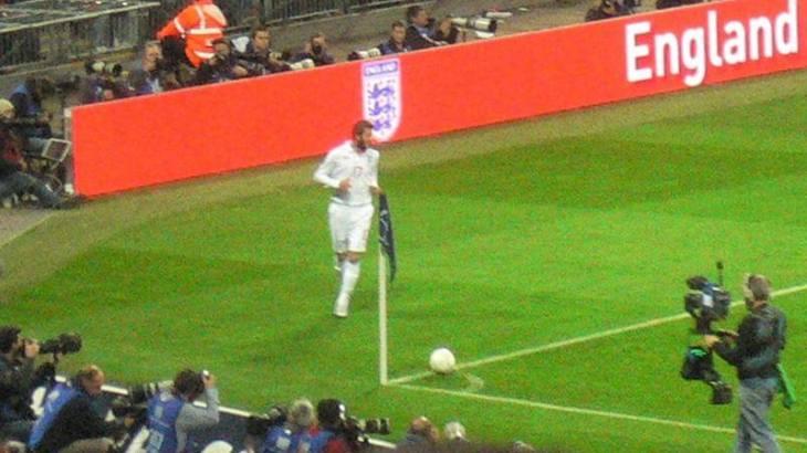 England playing football
