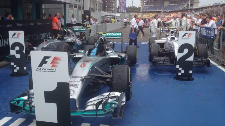 Parc Ferme at the 2014 German Grand Prix