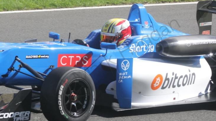 Dan Wells in Formula Three at Brands Hatch