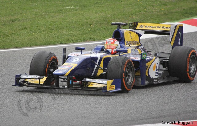 Felipe Nasr in Sunday's GP2 race at the 2013 Spanish Grand Prix